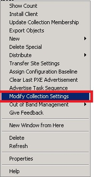 Sccm_ModifiyCollectionSettings